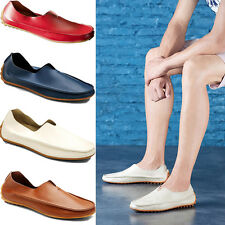 Men's Driving Casual Boat Shoes PU Leather Flat Shoes Moccasin Slip On Loafers
