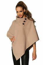 Poncho Sweater Shoulder Jacket Bolero Cardigan Cape Jumper Buttons 3 36 38 40