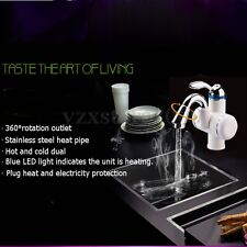Instant Heating Electric Water Heater Basin Faucet Hot / Cold Mixer Water Taps