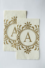 Cypress Home Embossed Monogram A Paper Guest Napkin, 90 count
