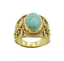 Turquoise Gold Plated Ring L-1.5 goodly Multi supplies AU K,M,O,Q