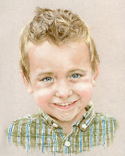PASTEL PORTRAIT COMMISSION. Custom drawing from photo by professional artist