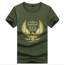 Free Ship 100% New Mens Casual Tee T-Shirt Casual Short Sleeve Tee S-5XL SIZE