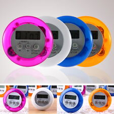 Cute Mini Round LCD Digital Cooking Home Kitchen Countdown UP Timer Alarm New CI