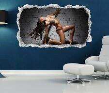 3D Mural tattoo Sexy Woman nude Pose Erotic Wall Sticker Breakthrough 11N628
