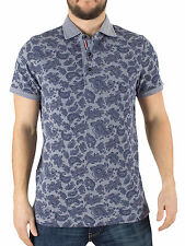 Tommy Hilfiger Men's Slim Fit Paisley Bay Logo Polo Shirt, Blue