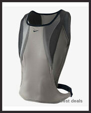 NIKE MENS RUNNING VEST Reflective Anthracite S/M L/XL NEW FREE Fast SHIPPING