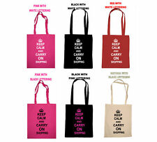 KEEP CALM AND CARRY ON SHOPPING TOTE BAG TRENDY FUNKY MOTHERS DAY BIRTHDAY GIFT