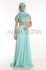 Dubai Caftan Long Floor Touch Party Wear Gown With Hand Made Embroidery 5439