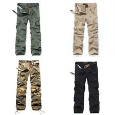 Combat Casual Men's Pants Cotton Military ARMY Cargo Camouflage Camo Trousers