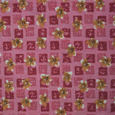 Quilt Fabric Cotton Calico Quilting Cute Pink Floral Check: Fat Quarters 17x21