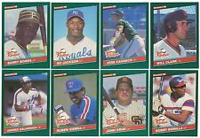 1986 Donruss Rookies Complete Team Set from Factory Set 10 Available XRC RC 86