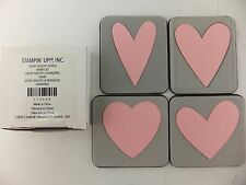 Stampin Up Sizzix Sizzlits Heart Set Die Cut Set of 4