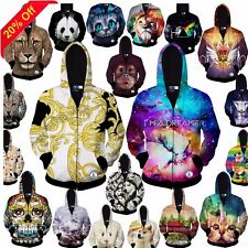 Galaxy Space Unisex 3D Overhead Sweatshirt Pop Hoodie Hoody Zip Top Jacket Coat