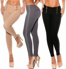 Sexy Leggings Treggings Trousers Zip Leather Stretch Leggings