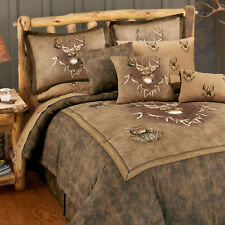 Whitetail Ridge Deer Comforter Set with Sheet and Curtain Options!