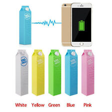 2600mAh Milk Power Bank External Backup Battery Portable Charger For Cell Phone