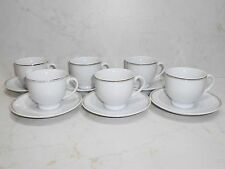 Brand New 6 pcs. Set of Ceramic Coffee Cups with Saucer #4