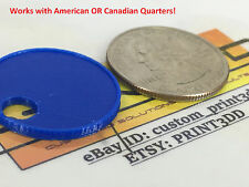 Canadian OR American shopping cart quarter. USA, coin, token, trolley, keychain
