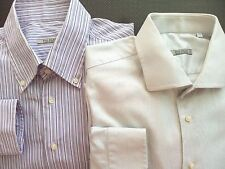 Pal Zileri Designer Made to Measure Mens Dress Shirt Size 18 1/2 46 Italy Cotton