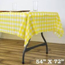 54 x 72 in. Disposable Checkered Plastic Vinyl Picnic Party Wedding Tablecloth