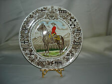 """WOOD & SONS ENGLAND """"THE ROYAL CANADIAN MOUNTED POLICE"""" COLLECTOR'S  PLATE"""