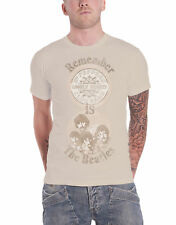 The Beatles T Shirt Remember Sgt Pepper Lonely Hearts Official Mens New Sand