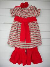 Christmas Dress and Ruffle Pants Outfit Handmade Various Toddler Girl Sizes NEW