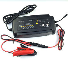 EU/US/UK Plug 7-Stage 12V 2/4/8A Smart Car Motorcycle Maintainer Battery Charger
