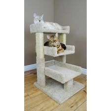 Cat Scratcher Post Pet Furniture Triple Condo House Kitty Bed Perch Play New Toy