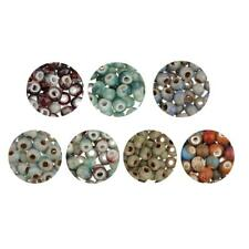 100pcs Vintage Ceramics Round Loose Spacer Beads for DIY Jewelry Making 6mm