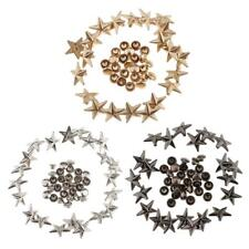 20x Star Shape Punk Rivets Studs Spikes Buttons for Leather Belt Bag Shoes 13mm