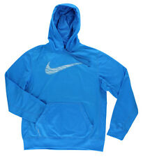 Nike Mens Therma Fit Knockout Swoosh Blur Hoodie Sky Blue 620171 406