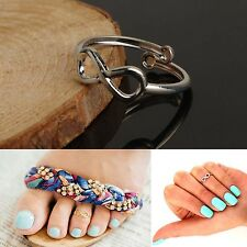 Fashion Celebrity Foot Jewellery Infinity Knuckle Finger Toe Ring Open Cuff Gold