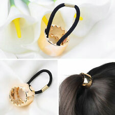 Girls Hair Band Metal Hair Wrap Pony Tail Holder Ring Rope Circle Accessory DS
