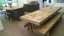 Handcrafted 6 foot Refectory Table & benches - made from recycled/salvaged wood