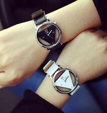 Leather Band Wrist Watch Stainless Steel Analog Quartz Watches Couple Alloy