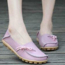 Women Fashion Leather Shoes Casual Slip On Flats Loafers Single Shoes Flats