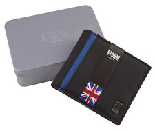 STORM Mens Faux Leather Luxury Wallet Bifold Credit Card Holder Gift Box Set New