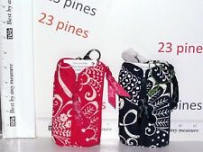 VERA BRADLEY COIN AND KEY CHAIN PURSE CHOICE OF TWIRLY BIRDS NAVY OR PINK NWT