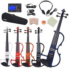 4/4 Electric Silent Violin Fiddle Style-2 Ebony Fingerboard Pegs Tailpiece U1A6