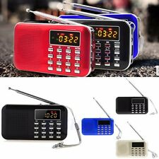 Portable Mini LCD Digital FM Radio Speaker USB Micro SD TF Card Mp3 Music Player
