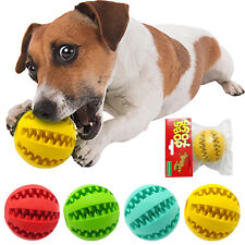 Rubber Chew Ball Toy For Dogs Dental Bite Resistant Tooth Cleaning Dog Toy Balls