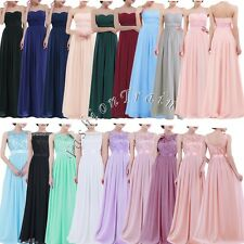 Women's Long Maxi Evening Cocktail Party Prom Bridesmaid Ball Gown Chiffon Dress