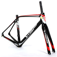 700C Road Bike Frame Carbon Fiber Tapered Frames & Fork Cycling Frameset 47.5cm