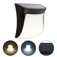 3 LED Solar Powered Gutter Light Outdoor Garden Security Fence Path Wall Lamp