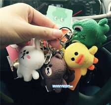 Stuffed Animal Toy Key Chain Ornament Bag Pendant Plush Bear Rabbit Frog Duck