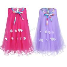 Flower Girls Summer Sleeveless Floral Tulle Holiday Dress Party Wedding Birthday
