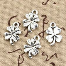 30pcs Floral pattern charms Silver Plated Pendants For Jewelry Making