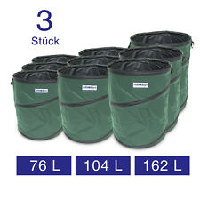 Pop Up Garden Bag Leaf Bag Sack Set of 3 Var. Sizes Weather Proof with Handles